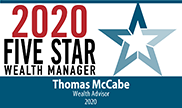 2020 Five Star Wealth Manager Award - Thomas McCabe