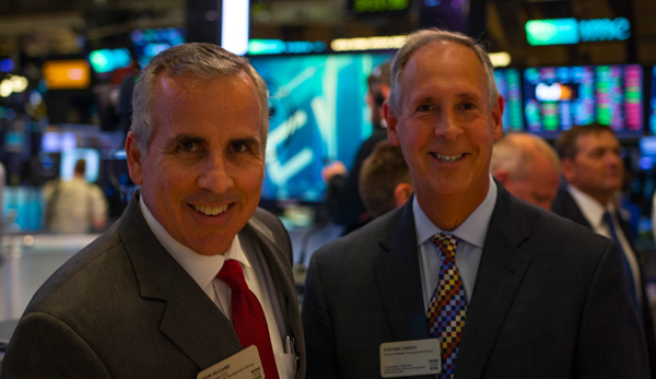 Tom McCabe and Steve Linden at the NYSE